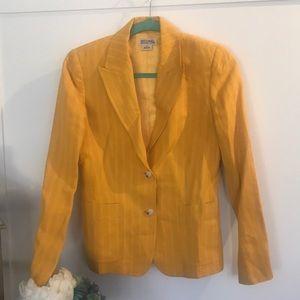 Michael Michael Kors yellow  pin stripe blazer
